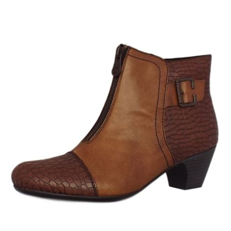 rieker cleveland 70581 25 fashion ankle boots in brown