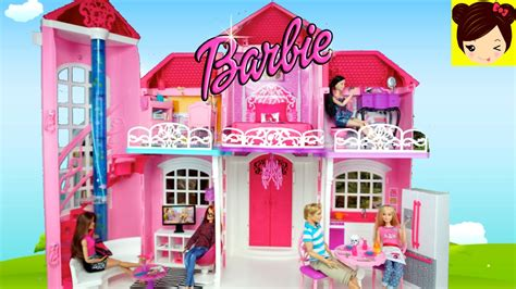 videos de casas de barbie decorando la casa de mu 241 ecas barbie malibu juguetes de