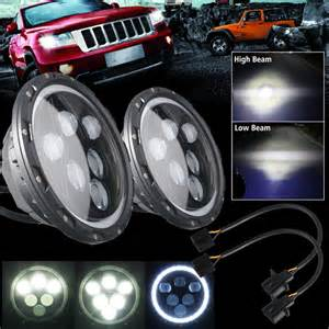 Led Headlights For Jeep Wrangler Tj Pair 7inch 60w Cree Led Projector Headlights For