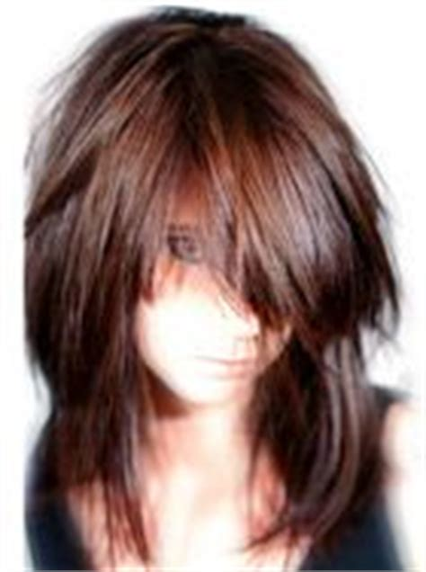 layered hairstyles with vertical roller sets medium hairstyles with chunky bangs color funky