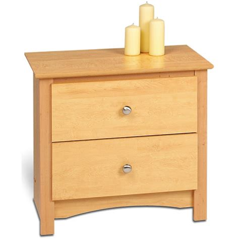 maple night stands bedroom sonoma two drawer night stand maple in nightstands