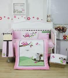 beautiful baby crib bedding bnib 9 pieces beautiful owl design baby crib cot