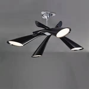 mantra m0901 pop 4 light black ceiling pendant