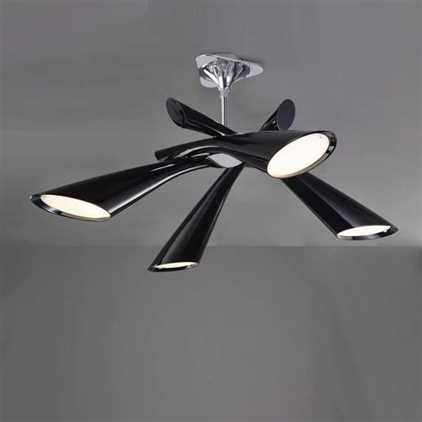 Black Ceiling Light Fixtures Mantra M0901 Pop 4 Light Black Ceiling Pendant