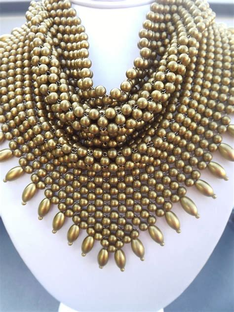 beaded scarf necklace vintage bib necklace beaded scarf necklace