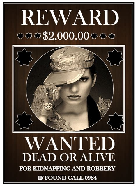 13 Free Wanted Poster Templates Printable Docs Microsoft Word Templates Most Wanted Template Docs