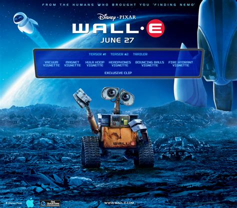 film disney wall e apple trailers wall e