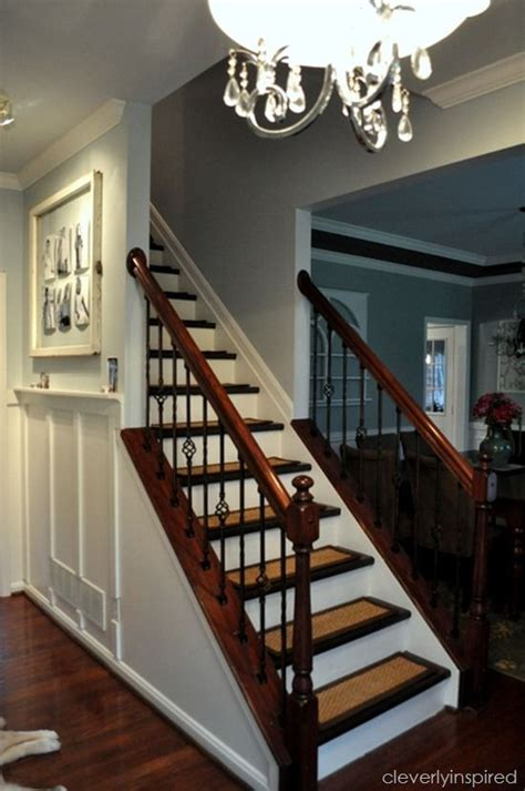 How To Refinish A Wood Banister by Top Hits Revisited Diy Refinishing Stairs Cleverly