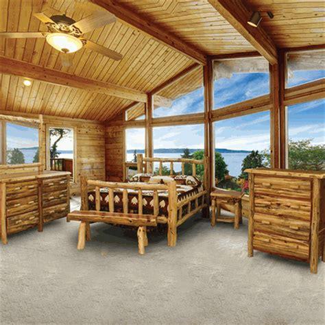 wildwood rustics red cedar half log bench wildwood rustics red cedar log bedroom set