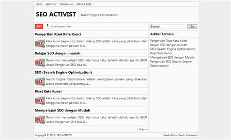 seo activist simple blogger template
