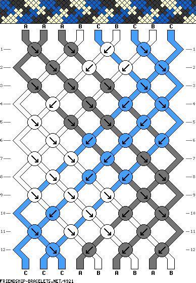 diamond shaped pattern crossword 4921 friendship bracelets net crafts friendship