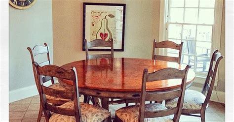 chalk paint louisville ky faux aged copper finish on dining room table top modern