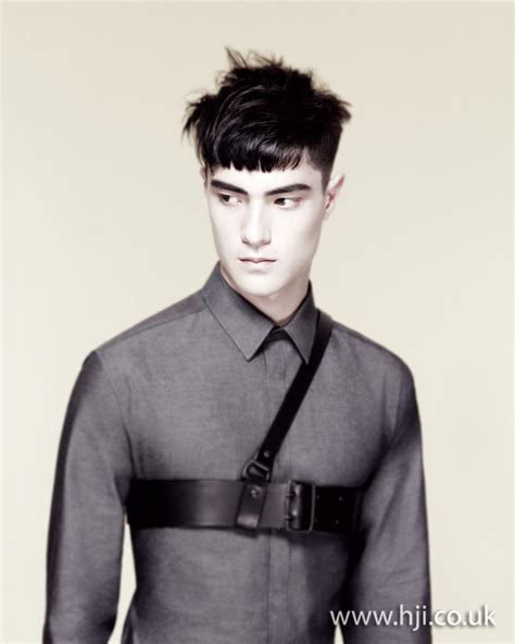 mens blunt haircuts 2012 mens textured blunt fringe hairstyle hji