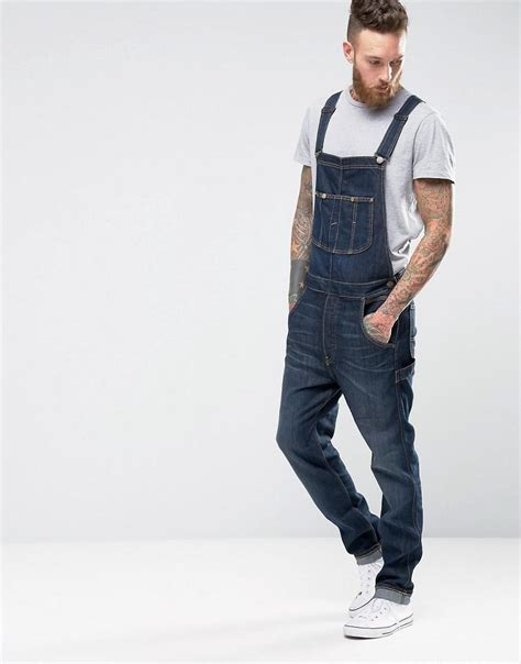 Lees Label At Asoscom by Bib Dungarees Tapered Fast Blue In Blue For