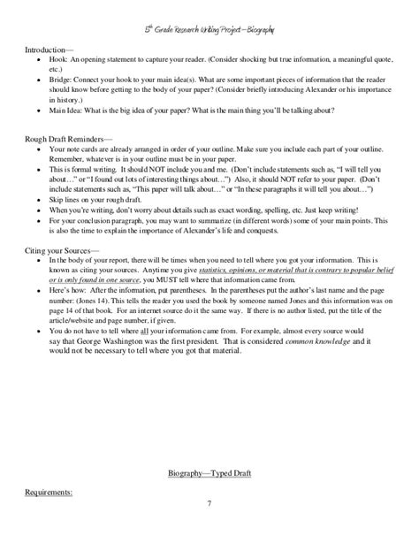 biography book report form for 5th grade 5th grade biography book report sle reportd24 web fc2 com
