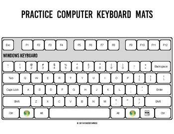 practice computer keyboard mats printable keyboard