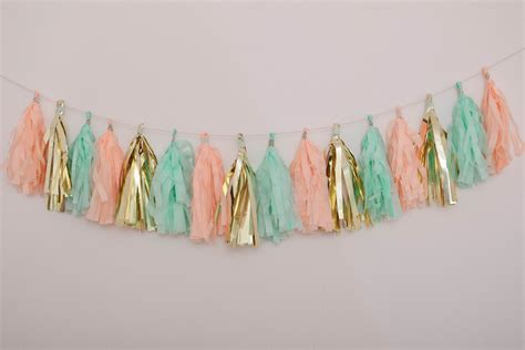 How To Make Tissue Paper Garland - diy tutorial for a tissue paper tassel garland