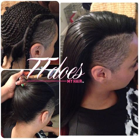 how to do mohawk sew in hairstyles how to do a versatile sew in hairstyles with shaved sides