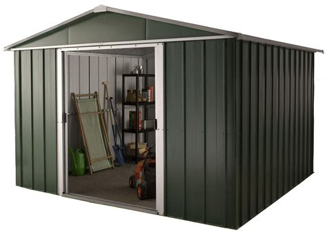 Floor For Metal Shed by Hercules Deluxe Apex Metal Shed And Floor Frame 10 X 8ft