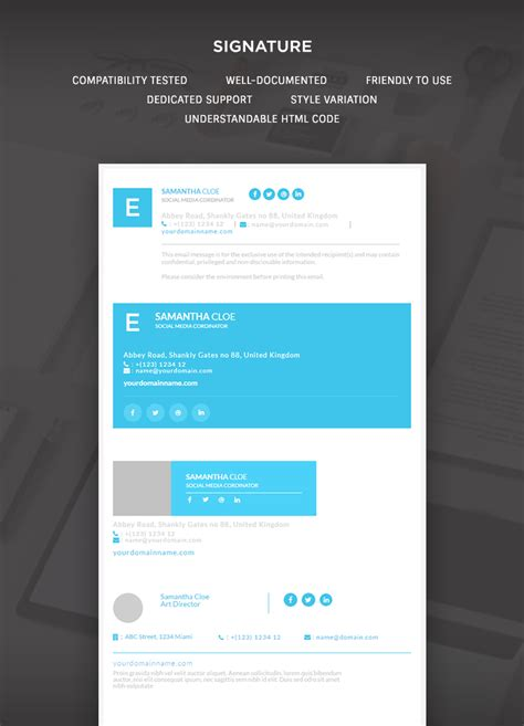 Responsive Signature E Mail Template Buy Premium Responsive Signature E Mail Template Theem On Template Wp Responsive