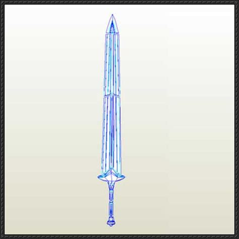 Papercraft Sword - the elder scrolls v skyrim dwarven sword free