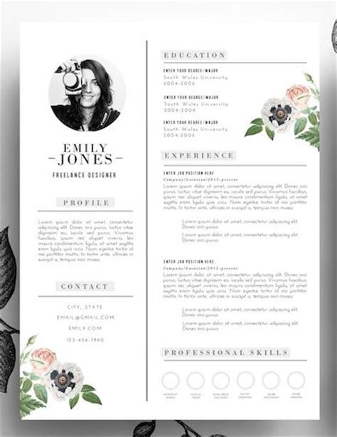 Creative Resume Format by Best 25 Creative Cv Template Ideas On Cv