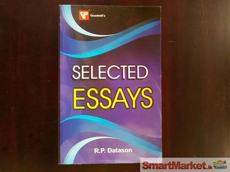 Selected Essays by Selected Essays By R P Datason