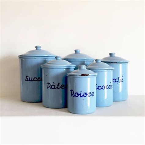 french enamel canister set best 25 vintage canisters ideas on pinterest red