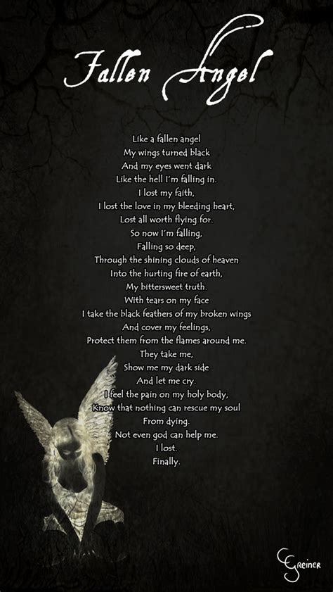 fallen angel tattoo quotes angel poems and quotes quotesgram