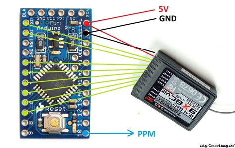 diy pro diy pwm to ppm converter for 2 4ghz receiver using arduino
