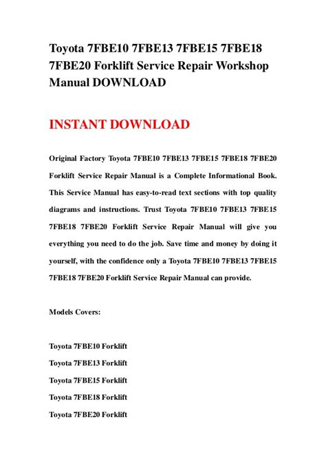 13 best images about toyota service repair manuals on ignition system entertainment toyota fbe10