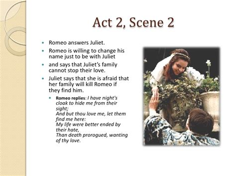 themes for romeo and juliet act 2 scene 2 romeo and juliet act 2 scenes 1 2 notes