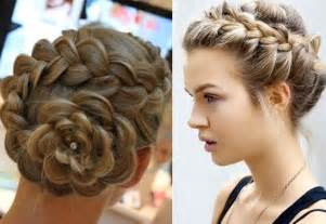 large braided hair styles big braided bun hairstyles updo medium hair styles ideas