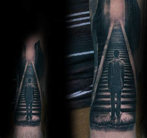 staircase tattoo 50 heaven tattoos for higher place design ideas