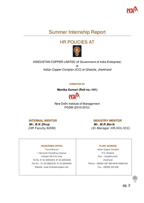 Hcl Summer Internship 2015 For Mba by Hr Policies In Hcl By Monika Ndim