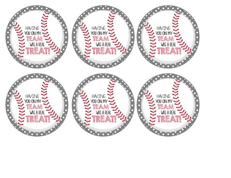 printable baseball tags baseball party rice krispies treats 174 cal ripken jr and