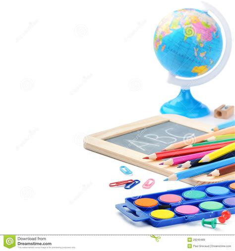 colorful office supplies royalty free stock image image colorful school supplies royalty free stock images image