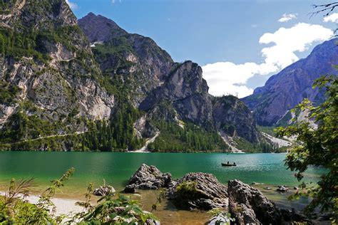 italian nature of photographs 0714859486 nature braies italy mountains lake boat fishing wallpaper 2304x1536 441373 wallpaperup