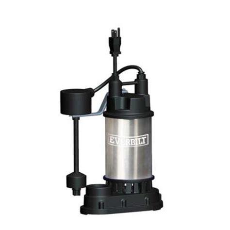 basement watchdog float switch everbilt sp05002vd stainless steel submersible sump