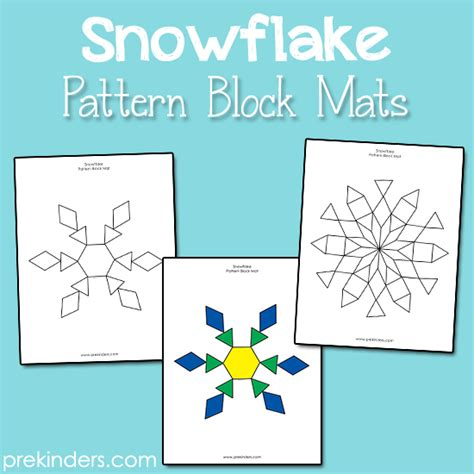 Pattern Block Mats by Snowflake Pattern Block Mats Prekinders
