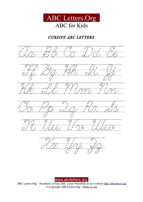 printable cursive letters uppercase and lowercase printable cursive letter tracing chart uppercase
