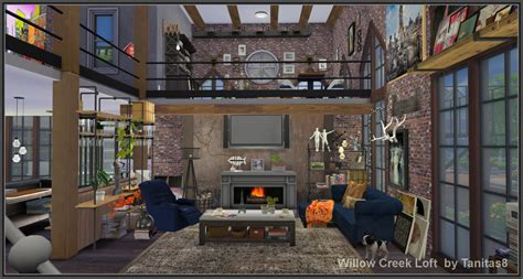 My Sims 4 Blog: Willow Creek Loft by Tanitas8