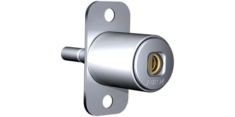 push button cabinet lock for wooden doors of424 abloy oy