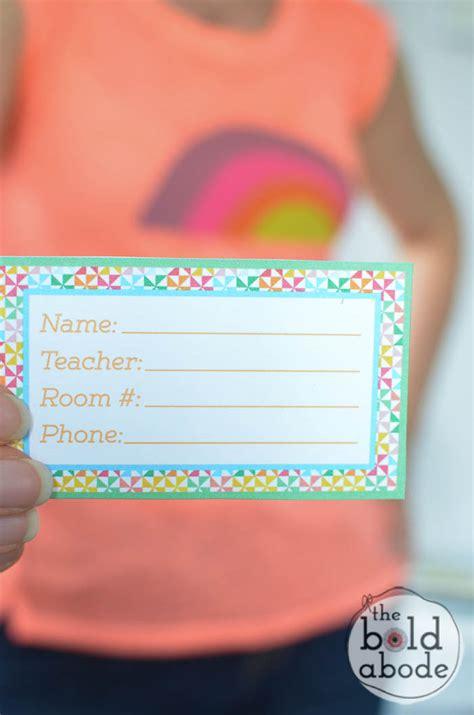 printable name tags for school bags 5 back to school organizational printables