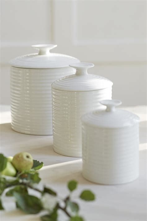 kitchens white ceramic kitchen canisters including