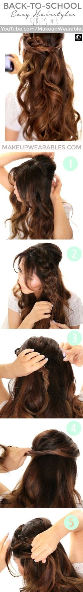 3 totally easy back to school hairstyles hair tutorial t a n g l e d picmia