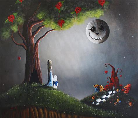 Disney Fairies Wall Mural alice in wonderland original artwork painting by shawna erback