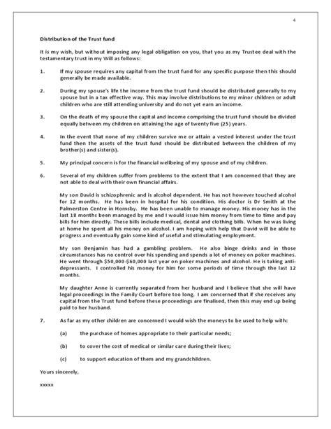 Testamentary Trust Template Free Download Trust Template