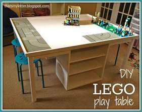 Giant lego play table space designed for storage and seating area