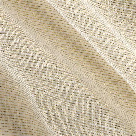 sheer fabric 110 quot faux linen sheer metallic ivory gold discount